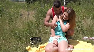 Erotic outdoor fun with a chubby ass teenager thirsty for cock