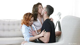Impudent foreplay with two young babes keen to enjoyment from like whores