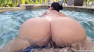 Lucky Horny Pool Boy Fucks Untouched Latin Amateur Teen Babe in the Pool with the Neighbors Watching