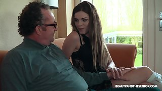 Old vs Young porn movie with reference to small tits chick Sarah Smith. HD