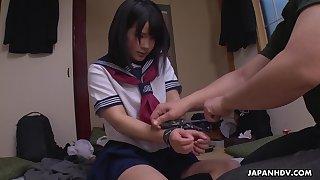 Correct teen yon sailor dress Ami Oya gives a blowjob and squirts
